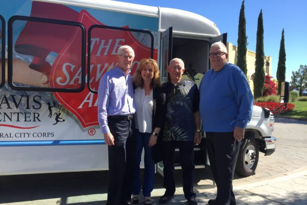 Berger and Barker Foundations Partner for Salvation Army Bus